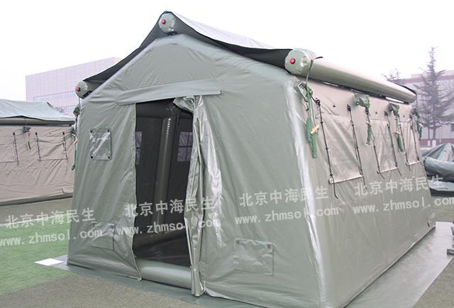 武警充气帐篷正面