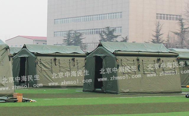 武警充气帐篷侧面