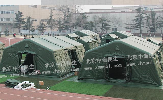 42㎡武警充气帐篷群组图