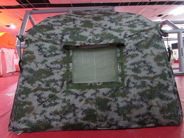 双人军用充气帐篷正面图