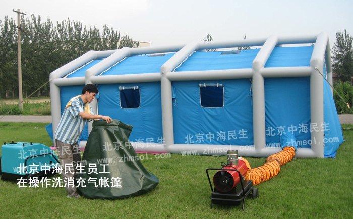 美式公共洗消充气帐篷配件图